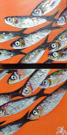 sardines fond orange hermès
