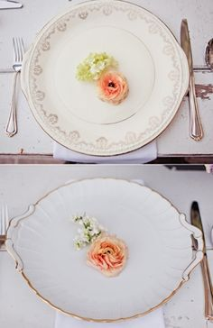 Table Decor Tip: Vintage China: Photo by Dave Richards Photography via The Brides Cafe #placesetting #wedding #decor #details #ideas