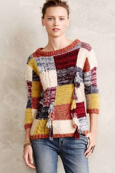 wantering-sweater-weather:  Brimfield Patchwork PulloverSearch for more Sweaters by artisan deluxe on Wantering.