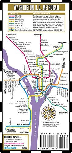Streetwise Washington DC Metro Map - Laminated Washington DC Metrorail & Mall Map - Pocket Size by Streetwise Maps Inc http://www.amazon.com/dp/1931257671/ref=cm_sw_r_pi_dp_nPBkvb1A8428V