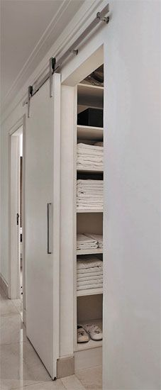 walk in linen closet...yes please