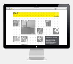 Logo and website with a modular and dynamic grid based framework designed by Artentiko for architecture studio Ideo Architekci. #Branding #Design #Website