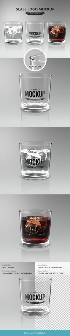 Drinking Glass Mockup on Behance