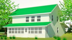 Specifications: 928 sq. ft. interior plus 512 sq. ft. upper floor, 4 bedroom, 3 bath, Footprint: 32′ x 35′