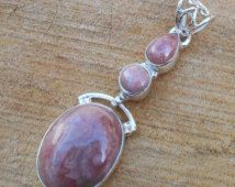 Pink opal Pendant - Designer Silver Jewelry, Bezel Setting Pendant, Solid Silver Pendant, Sterling Silver Pendant, Top Quality Pendant