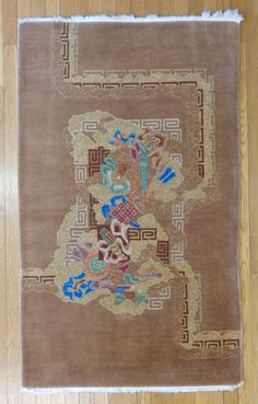 Chinese Oriental Rug, 2' 11 x 4' 11 Brown http://lesniakorientalrugs.com/67-chinese-oriental-rug-2-11-x-4-11.html#