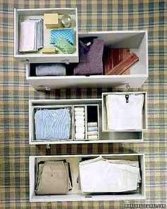 How can you revamp that familiar standby, the chest? Like this: In shallow top drawers, a velvet lining, backed with poster board using archival glue, gives delicate items, such as scarves and jewelry, plush support.