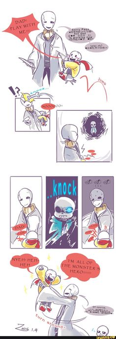 undertale, sans, papyrus, gaster. Even as a kid, Sans was an intimidating force to be reckoned with. And he always put Papyrus' happiness first!