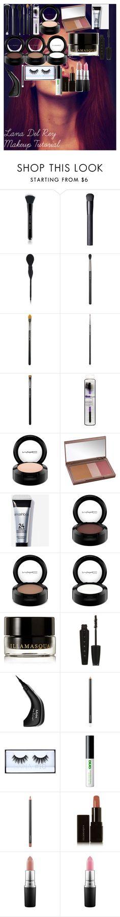 """Lana Del Rey Makeup Tutorial"" by oroartye-1 on Polyvore featuring beauty, Marc Jacobs, NARS Cosmetics, MAC Cosmetics, Urban Decay, Illamasqua, L'Oréal Paris, NYX, Huda Beauty and 210"