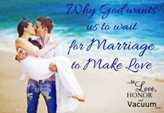Most people have sex before marriage today. Here's why God wants us to wait until marriage to make love. Waiting Until Marriage, Before Marriage, Marriage Advice, Relationship Advice, Happy Marriage, Love And Marriage, Christ Centered Marriage, True Love Waits, Christian Couples