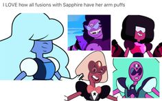 Awwww yes FORGIVE ME I NOTICED THAT CERTAIN TRAITS FROM CERTAIN GEMS CARRY OVER INTO ALL THEIR FUSIONS