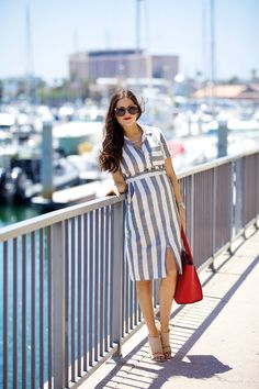 Style Inspiration: Summer Sizzle - The Simply Luxurious Life® Summer Fashion For Teens, Summer Fashion Outfits, Girl Fashion, Fashion Dresses, Luxury Lifestyle Fashion, Chic Summer Style, Love Her Style, Elegant Outfit, Striped Dress