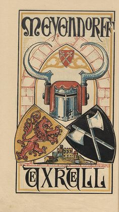 Baltic Heraldry Family crests from Estonia, Latvia & Lithuania in a 1902 calendar of colour woodblock prints