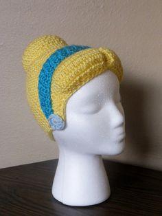 Cinderella hat/wig adult size by StrungOutFiberArts on Etsy