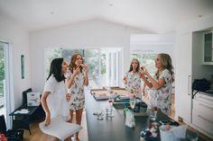 Photography: The Woods Photography ~ Possibly the BEST bridesmaid gift idea - Piyama Maggie Pajama Sets in Wild Flower Pink $49 ~ Shop the Piyama Bridal Boutique: www.etsy.com/au/shop/Piyama
