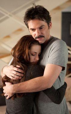 Even vampires still need human dad hugs.