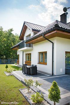 Dom w sansewieriach Minimal House Design, Minimal Home, Front Garden Ideas Driveway, Brick Paver Patio, Architectural House Plans, Hallway Designs, House Front Door, Prefab Homes, Facade House