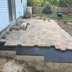 Deck one day patio the next almost! 2019 Deck one day patio the next almost! The post Deck one day patio the next almost! 2019 appeared first on Patio Diy. Backyard Patio Designs, Backyard Projects, Diy Patio, Backyard Landscaping, Landscaping Ideas, Pavers Ideas, Back Yard Paver Ideas, Paved Backyard Ideas, Front Patio Ideas