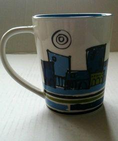 "STARBUCKS Mug /Cup 14 oz ""My Journey Begins Today"" 2008"