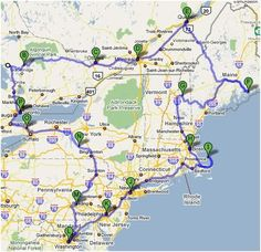 New England road trip map/suggested routes. | Travel | Road Trip ...