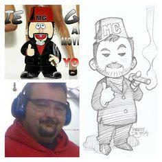 Animation Style Art Cartoon Sketches by Robert DeJesus ! Foto Cartoon, Cartoon Faces, Cartoon Sketches, Cartoon Styles, Robert Dejesus, Caricatures, Persona Anime, Portrait Cartoon, Cartoon People