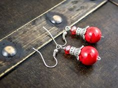 Check out this item in my Etsy shop https://www.etsy.com/listing/227385115/red-coralturquoise-drop-earrings
