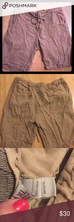 Men's margaritaville 100% Linen Shorts These are gently worn just need a good steam! Size XL! 100% Linen margaritaville Shorts Flat Front
