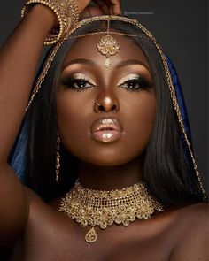 Best bridal makeup for brown eyes dark skin wedding black women Ideas Beautiful Black Girl, Black Girl Art, Beautiful Women, Dark Skin Makeup, Dark Skin Beauty, Black Beauty, Black Girl Aesthetic, Brown Skin Girls, Brown Eyes