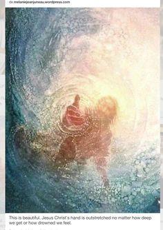 La mano de Dios, siempre presta a ayudar si nos estamos hundiendo a lo más profundo