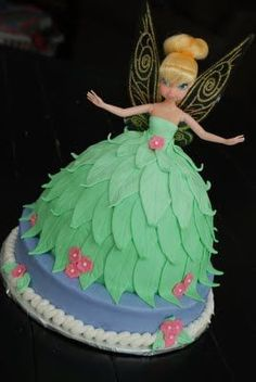 A Popular Princess {Tinkerbell Doll Cake} | A Little Something Sweet - Custom…