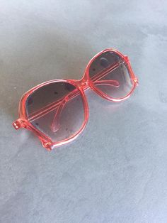 b92ffb06b255f Vintage Sunglasses Made In West Germany Red Plastic Oversized Frames Oh So  70 s Retro Sunglasses