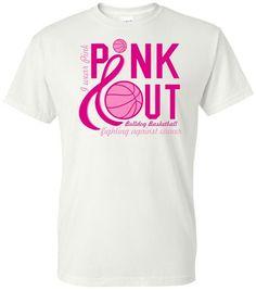 726cbd01 Pink Out Basketball T-Shirt #breastcancer #breastcancerawareness #Pinkout  #ThinkPink Pink Basketball