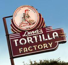 Luna's Tortilla Factory ~ Art Deco Neon Sign