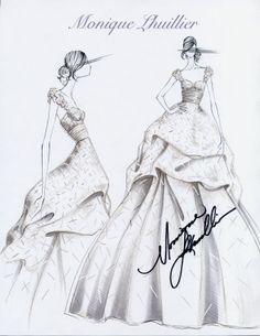 #moniquelhuillier bridal sketch