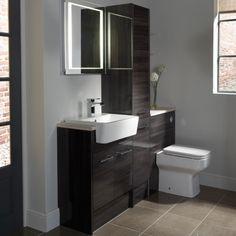 Vetro cinder fitted bathroom furniture | Roper Rhodes (comes in slimline size)