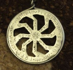 Runes and solar wheel.