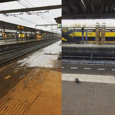 Yeah I'm having a day off! On my way to Amsterdam!! Love being on trainstations btw. Have a nice day everyone! Enjoy the weather  #dayoff #amsterdam #trainstation #onmyway #weather #rain #dutch #metime