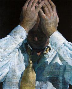 François Bard - The krach - 2011 - Oil painting on canvas - 161 x 161 cm - © Mazel Galerie
