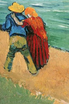 Vincent Van Gogh...I guess at the time, Vincent was dreaming of having a nice partner to be in his life forever...cuz if u look closely, he painted old couple in some of his paintings....unfortunately he wasn't lucky enough to get married in his whole life.....