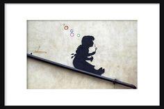 Bubble Girl - Banksy - Graffiti Art - Street art – Print - Poster