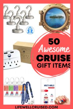 50 Awesome Cruise Gift Items for cruisers and people who love to travel. Beyond the cruise essentials and practical cruise accessories, this holiday gift guide includes items for him and her and for home. #cruise #cruisetips #travelgifts #giftguide #cruisemusthaves