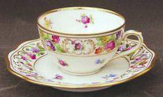 Schumann - Bavaria Chateau Dresden Flat Demitasse Cup & Saucer Set