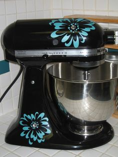 My #kitchenaid can be updated to any color I choose using #uppercaseliving #vinyl flowers! #diy #decor8life