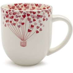 Sur La Table Valentine's Day Mug, 13 oz. ($4.99) ❤ liked on Polyvore featuring home, kitchen & dining, drinkware, accessories, casa, decor, extras, heart shaped mug, wizard of oz cups and heart mugs