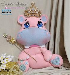 Hipopótamo em feltro