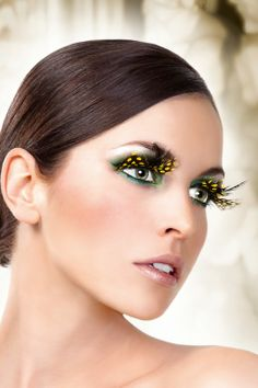 Eyelashes – Baci Yellow Feather Eyelashes – BE627