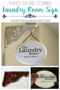 Make a Laundry Room Sign from a Corbel