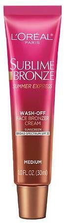 L'Oreal Paris Sublime Bronze Summer Express Wash-Off Face Bronzer Cream Medium