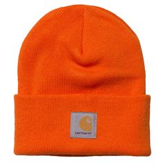 6a1a57d6b4e Carhartt Orange Watch Beanie www.ark.co.uk  menswear  brands