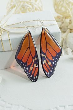 FAUOI Metal Geometric Style Silver Plated Earrings, Silver tone, Size No Size – Fine Jewelry & Collectibles Purple Bird, Orange Butterfly, Monarch Butterfly, Butterfly Wings, Green And Purple, Wing Earrings, Butterfly Earrings, Statement Earrings, Mother In Law Gifts
